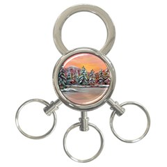 Jane s Winter Sunset   by Ave Hurley of ArtRevu ~ 3-Ring Key Chain by ArtRave2
