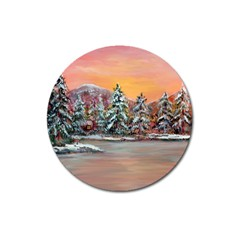 jane s Winter Sunset   By Ave Hurley Of Artrevu   Magnet 3  (round) by ArtRave2