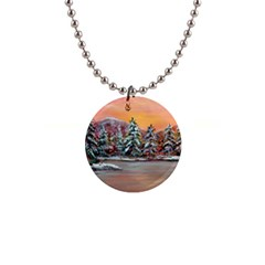 jane s Winter Sunset   By Ave Hurley Of Artrevu   1  Button Necklace by ArtRave2