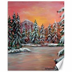 jane s Winter Sunset   By Ave Hurley Of Artrevu   Canvas 11  X 14  by ArtRave2