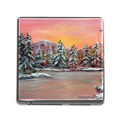 jane s Winter Sunset   By Ave Hurley Of Artrevu   Memory Card Reader (square) by ArtRave2