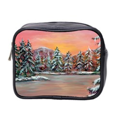 jane s Winter Sunset   By Ave Hurley Of Artrevu   Mini Toiletries Bag (two Sides) by ArtRave2
