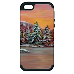 jane s Winter Sunset   By Ave Hurley Of Artrevu   Apple Iphone 5 Hardshell Case (pc+silicone) by ArtRave2