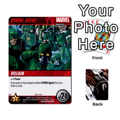 Dcdb Avengers 1 By Mark   Playing Cards 54 Designs   Zmxg4767u1dp   Www Artscow Com Front - Heart9