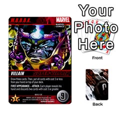 Dcdb Avengers 1 By Mark   Playing Cards 54 Designs   Zmxg4767u1dp   Www Artscow Com Front - Spade7