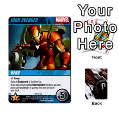 Dcdb Avengers 3 By Mark   Playing Cards 54 Designs   N6h1537o1u3x   Www Artscow Com Front - Club3