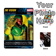Dcdb Marvel Starters  By Mark   Playing Cards 54 Designs   N4cgu2c8vhc8   Www Artscow Com Front - Diamond8