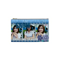 Winter By Jo Jo   Cosmetic Bag (small)   Nzczt3f7p9ol   Www Artscow Com Front