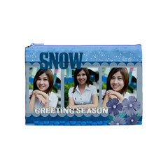 Snow By Jo Jo   Cosmetic Bag (medium)   6mlbx2di7xdk   Www Artscow Com Front
