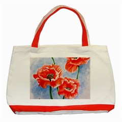 Poppies Classic Tote Bag (red) by ArtByThree
