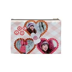 Love By Ki Ki   Cosmetic Bag (medium)   8svipgsfsfx5   Www Artscow Com Back