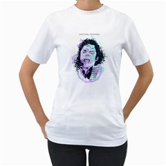 King Of Pop Womens  T Shirt (white)