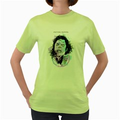 King of Pop Womens  T-shirt (Green) by Contest1810159