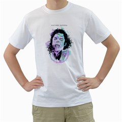 King Of Pop Mens  T Shirt (white) by Contest1810159