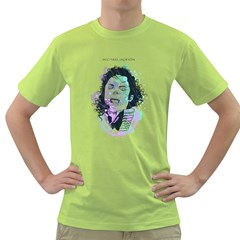 King of Pop Mens  T-shirt (Green) by Contest1810159