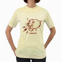 Liberate  Womens  T Shirt (yellow)