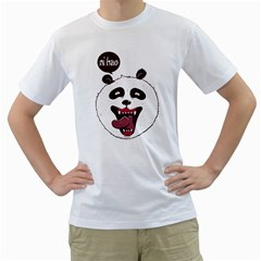 Hello Panda Mens  T Shirt (white)