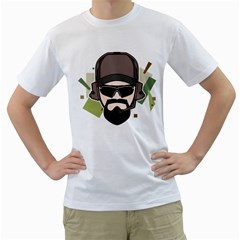 Tactical Beard Mens  T Shirt (white)