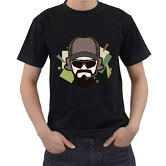 Tactical Beard Mens' T-shirt (Black) by Contest1810159