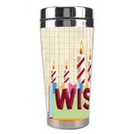 happy birthday - Stainless Steel Travel Tumbler