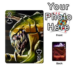 Dota 2 Pack By Arkalagar   Playing Cards 54 Designs   Bm4jc4bk12hy   Www Artscow Com Front - Club2