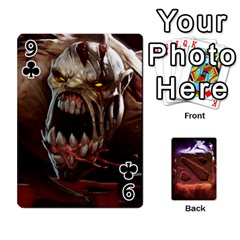 Dota 2 Pack By Arkalagar   Playing Cards 54 Designs   Bm4jc4bk12hy   Www Artscow Com Front - Club9