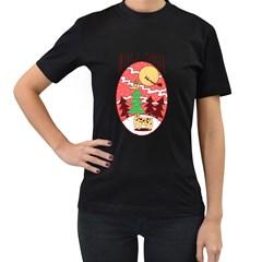 Hello Santa Womens' T Shirt (black) by Contest1810159