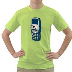 Smart Phone Mens  T Shirt (green) by Contest1753604