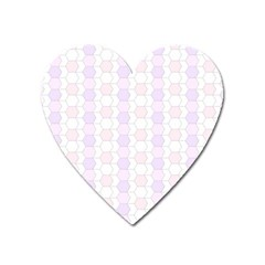 Allover Graphic Soft Pink Magnet (heart)
