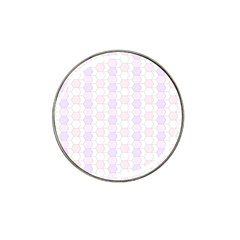 Allover Graphic Soft Pink Golf Ball Marker (for Hat Clip) by ImpressiveMoments