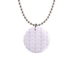 Allover Graphic Soft Pink Button Necklace