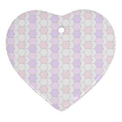 Allover Graphic Soft Pink Heart Ornament (two Sides) by ImpressiveMoments