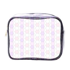 Allover Graphic Soft Pink Mini Travel Toiletry Bag (one Side) by ImpressiveMoments