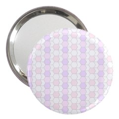 Allover Graphic Soft Pink 3  Handbag Mirror by ImpressiveMoments