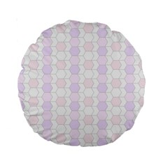 Allover Graphic Soft Pink 15  Premium Round Cushion  by ImpressiveMoments