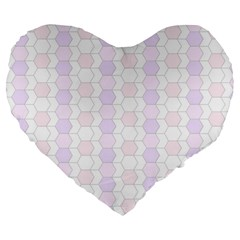 Allover Graphic Soft Pink 19  Premium Heart Shape Cushion by ImpressiveMoments