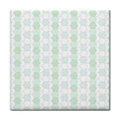 Allover Graphic Soft Aqua Face Towel