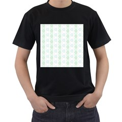 Allover Graphic Soft Aqua Mens' T-shirt (Black) by ImpressiveMoments