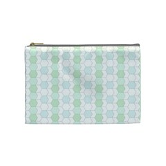 Allover Graphic Soft Aqua Cosmetic Bag (medium) by ImpressiveMoments