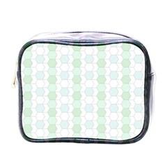 Allover Graphic Soft Aqua Mini Travel Toiletry Bag (one Side) by ImpressiveMoments