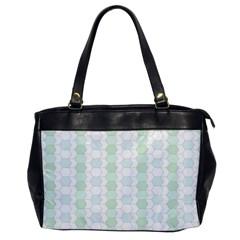 Allover Graphic Soft Aqua Oversize Office Handbag (one Side) by ImpressiveMoments