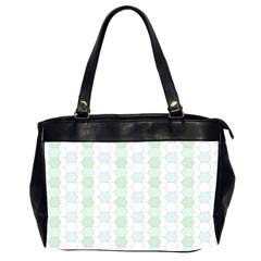 Allover Graphic Soft Aqua Oversize Office Handbag (two Sides) by ImpressiveMoments