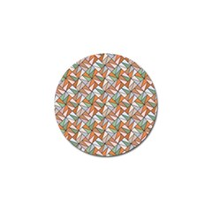 Allover Graphic Brown Golf Ball Marker 10 Pack by ImpressiveMoments