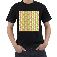 Allover Graphic Red Green Mens' Two Sided T Shirt (black) by ImpressiveMoments