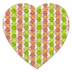 Allover Graphic Red Green Jigsaw Puzzle (heart)