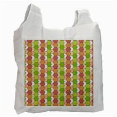 Allover Graphic Red Green Recycle Bag (one Side)