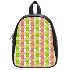 Allover Graphic Red Green School Bag (small) by ImpressiveMoments