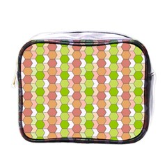 Allover Graphic Red Green Mini Travel Toiletry Bag (one Side) by ImpressiveMoments