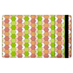 Allover Graphic Red Green Apple Ipad 3/4 Flip Case by ImpressiveMoments