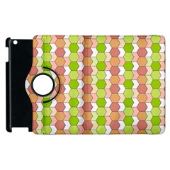 Allover Graphic Red Green Apple Ipad 2 Flip 360 Case by ImpressiveMoments